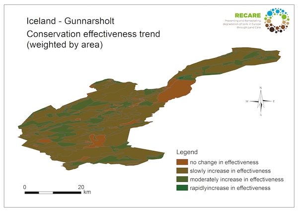 Iceland Gunnarsholt conservation effectiveness trend copy