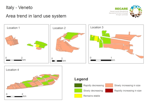 Italy Veneto area trend land use systemS
