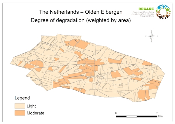 The Netherlands Olden Eibergen degree of degradationS