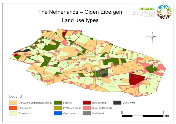 The Netherlands Olden Eibergen land use typesS