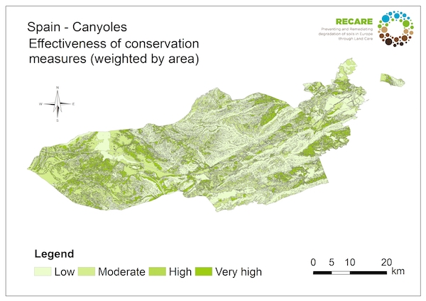Spain Canyoles effectiveness of conservation measuresS