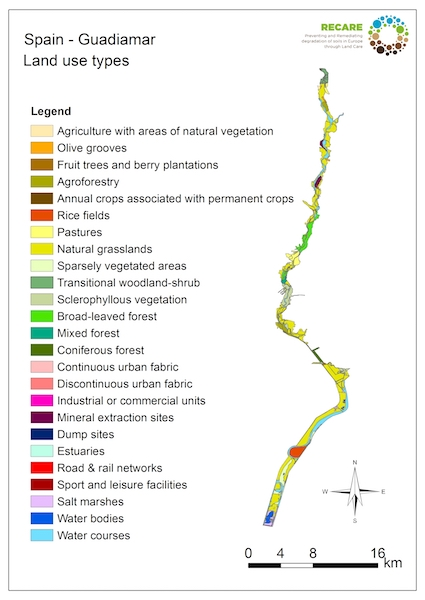 Spain Guadiamar land use types