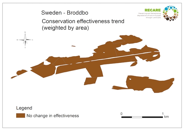 Sweden Broddbo conservation effectiveness trendS
