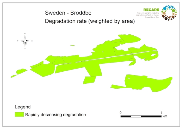 Sweden Broddbo rate of degradationS