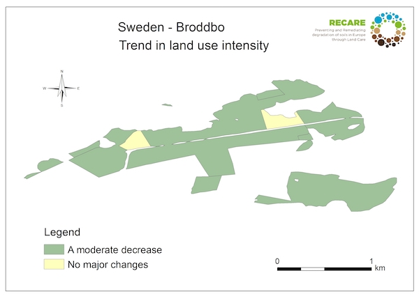 Sweden Broddbo trend in land use intensityS