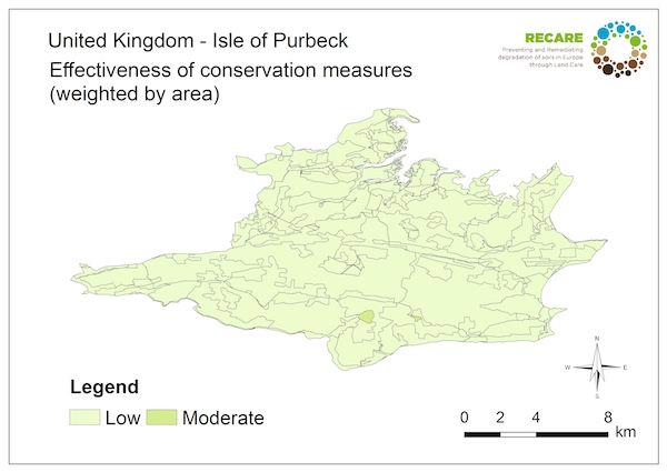 United Kingdom Isle of Purbeck effectiveness of conservation measuresS