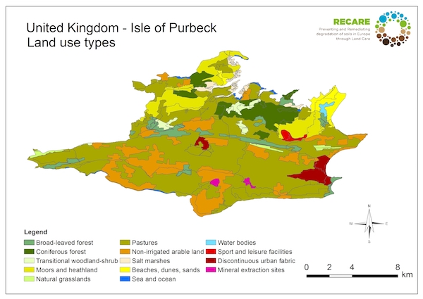 United Kingdom Isle of Purbeck land use typesS