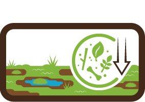 Loss of organic matter - peat soils