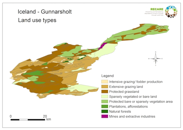 Iceland Gunnarsholt land use typesS