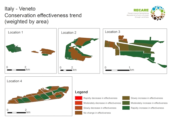 Italy Veneto conservation effectiveness trendS