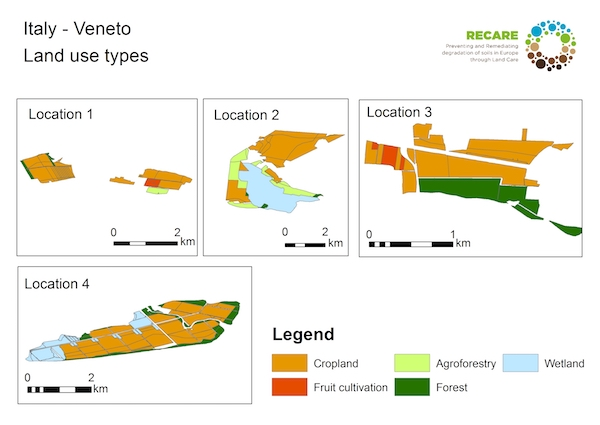 Italy Veneto land use typesS