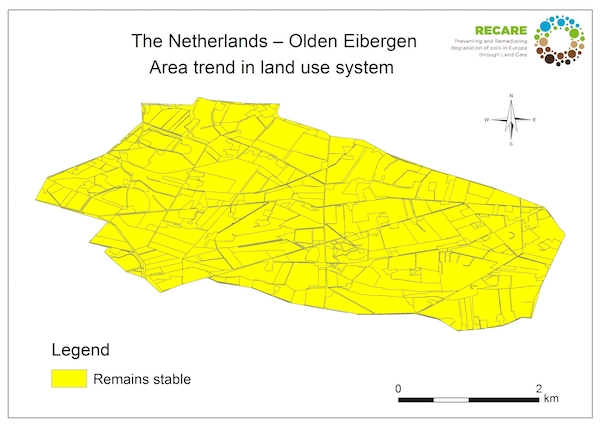 The Netherlands Olden Eibergen area trend land use systemS