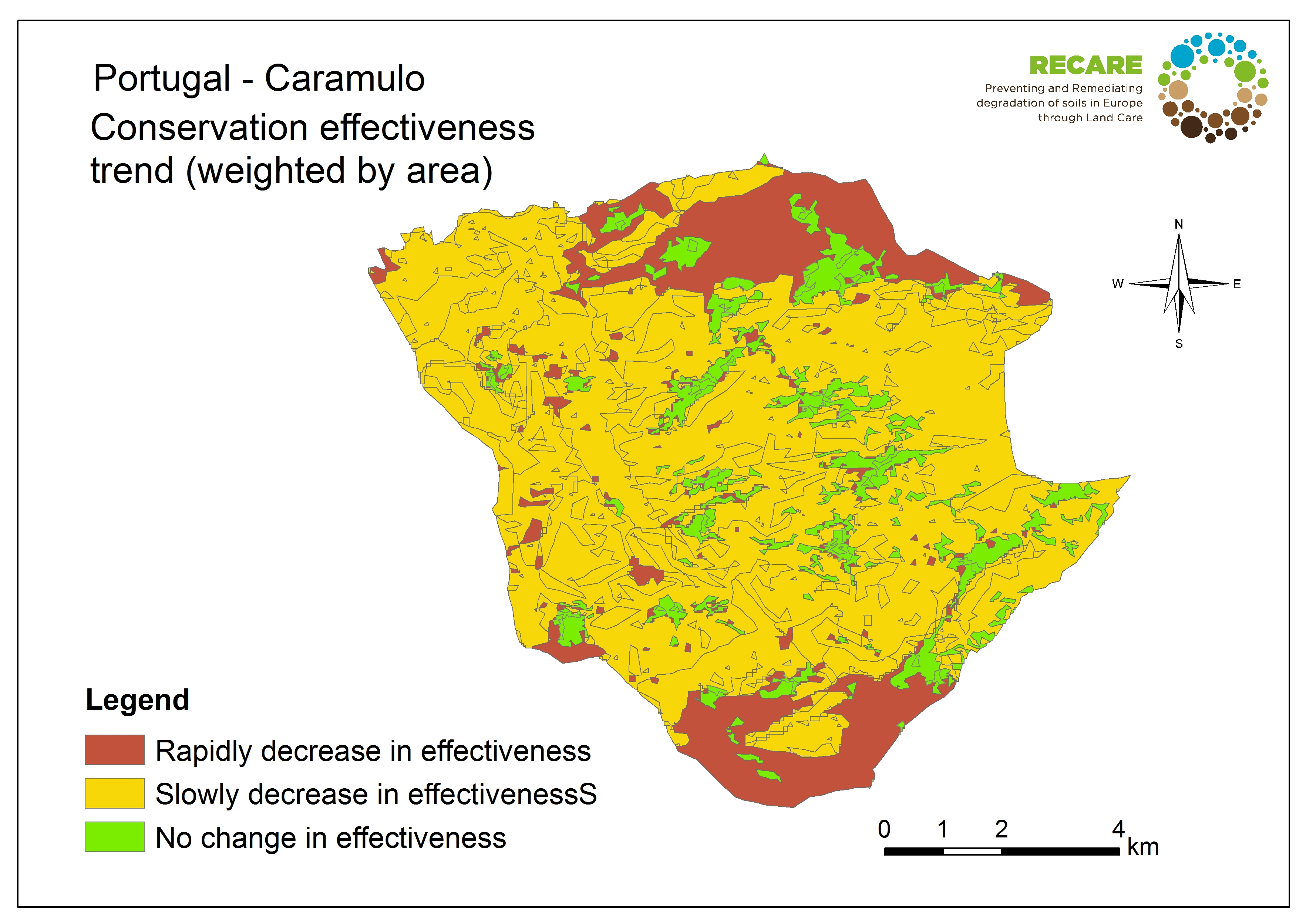 Portugal Caramulo conservation effectiveness trend
