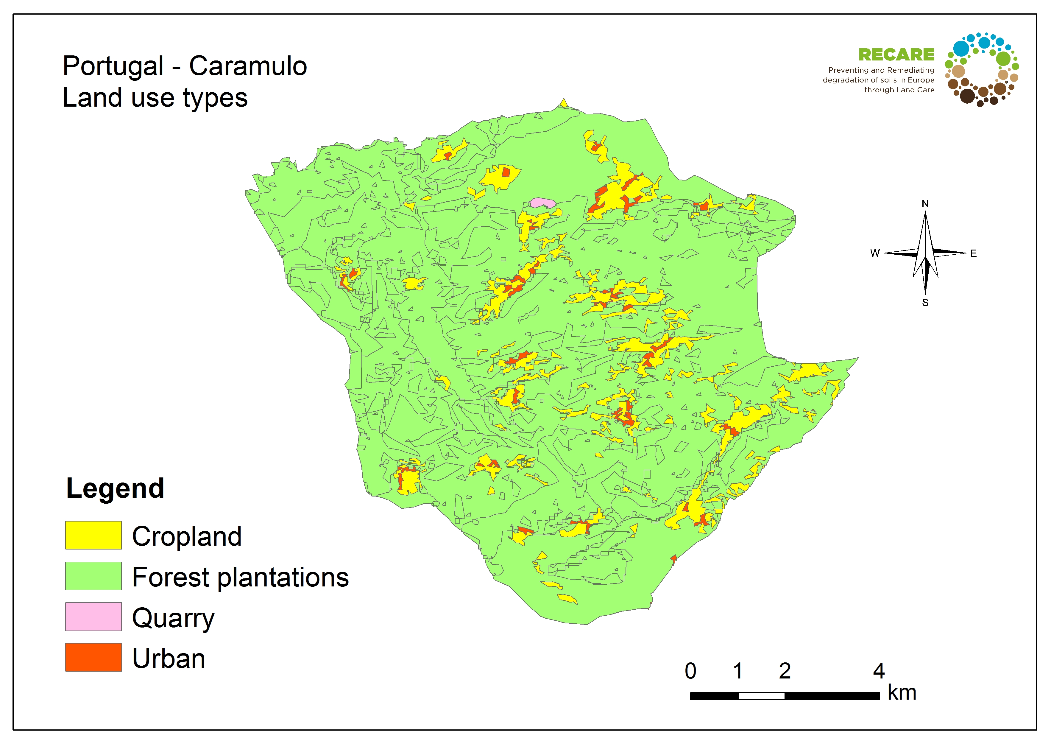 Portugal Caramulo land use types