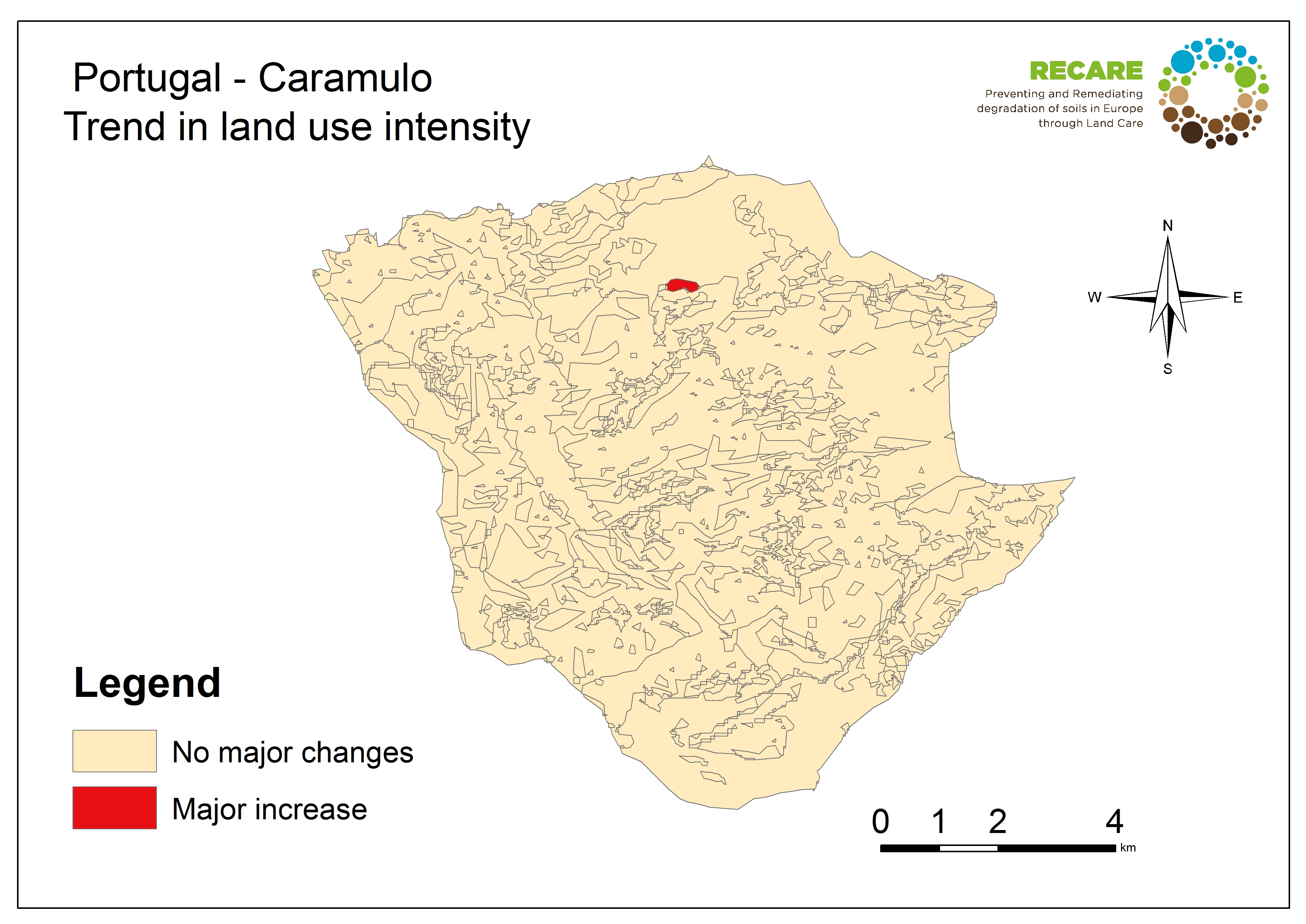 Portugal Caramulo trend in land use intensity