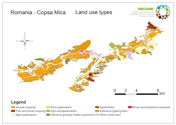 Romania Copsa Mica land use typesS