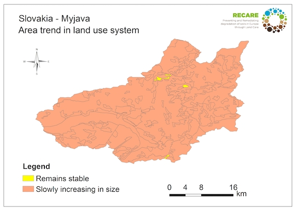 Slovakia Myjava area trend land use systemS