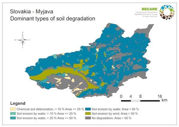 Slovakia Myjava dominant types of soil degradationS