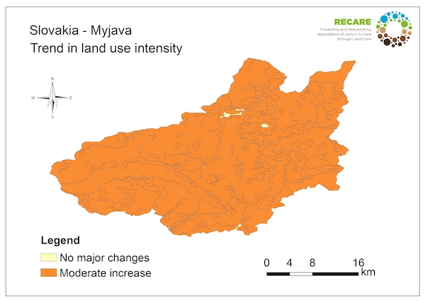 Slovakia Myjava trend in land use intensityS