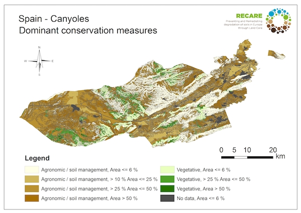 Spain Canyoles dominant conservation measuresS