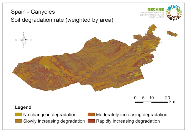 Spain Canyoles rate of degradationS