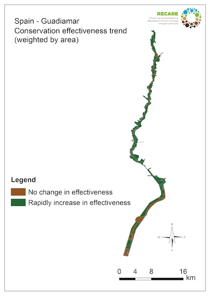 Spain Guadiamar conservation effectiveness trends
