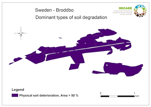 Sweden Broddbo dominant types of soil degradationS