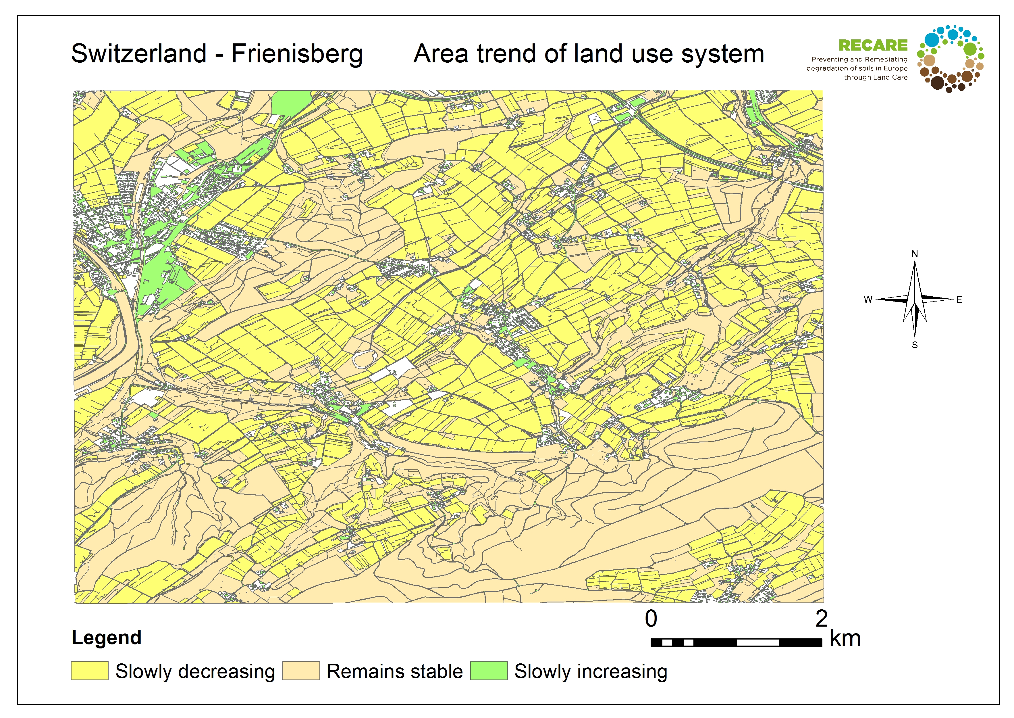 Switzerland Frienisberg area trend land use system