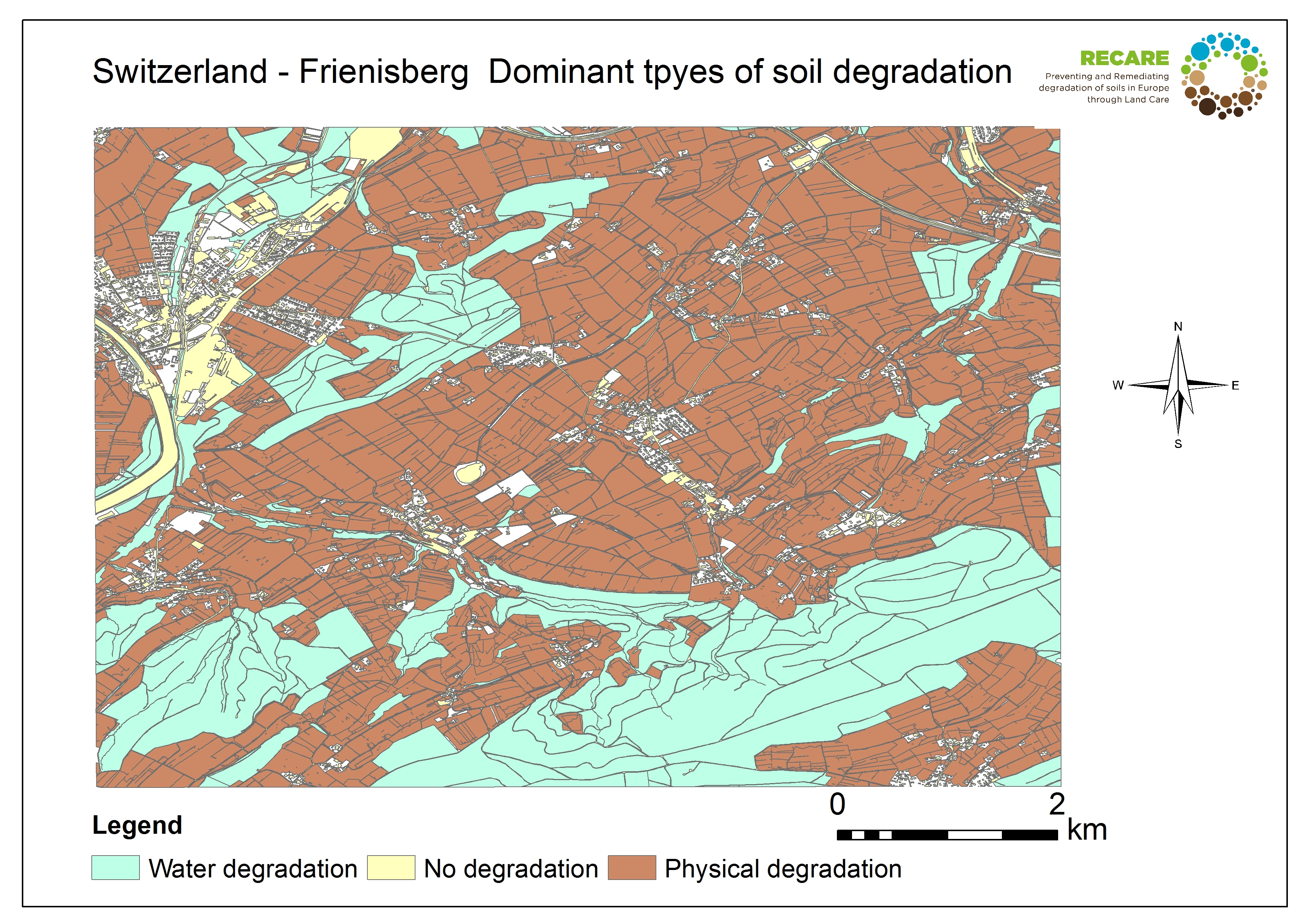 Switzerland Frienisberg dominant types of soil degradation
