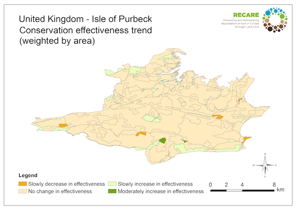 United Kingdom Isle of Purbeck conservation effectiveness trendS