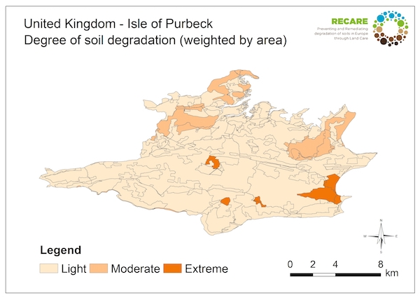 United Kingdom Isle of Purbeck degree of degradationS