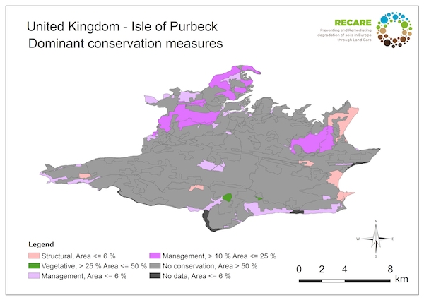 United Kingdom Isle of Purbeck dominant conservation measuresS